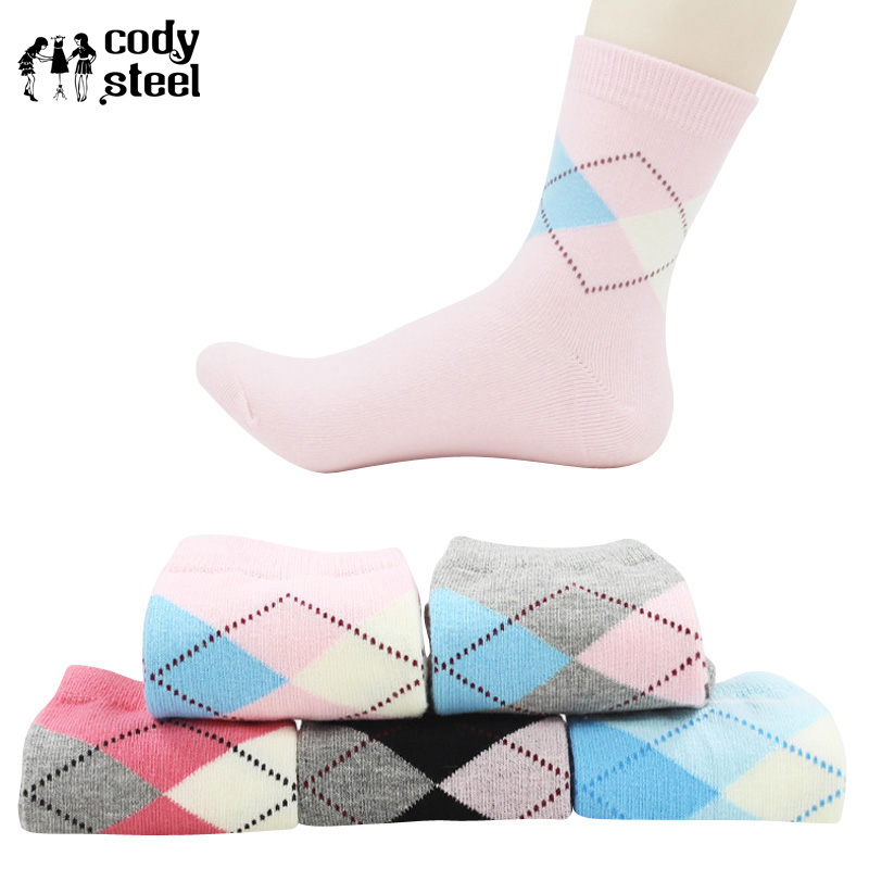 Cody Steel Woman Diamond Socks Fashion D