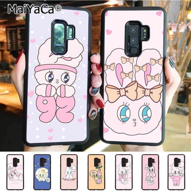 quality design 21e4c 6ff30 MaiYaCa Pink Korean chuu esther kim rabbit Luxury High end phone Case for  samsung galaxy s6 edge s5 s7 s8plus s9plus case coque-in Half-wrapped Case  ...