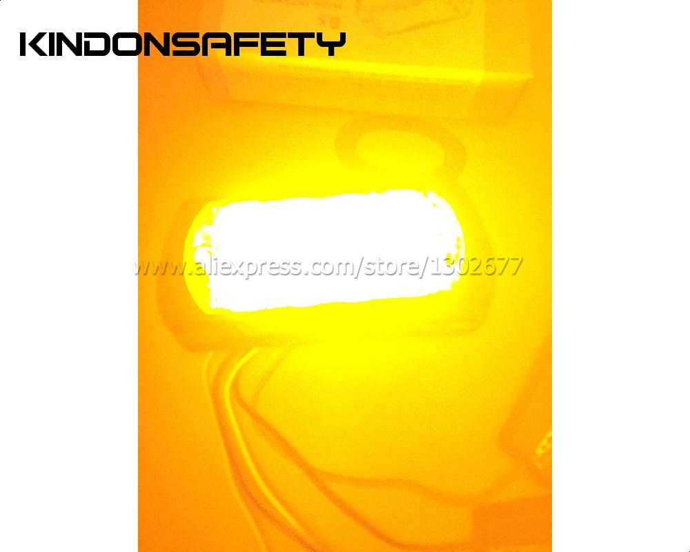 10 шт.( янтарь)! Светодио дный 8 Вт Автомобильный светодиодный strobelight, lighthead, светодио дный 8 светодиодный предупреждающий свет, 26 моделей вспышки, DC12V, янсветодио дный тарный светодиод