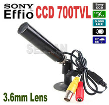 Mini Bullet Outdoor Waterproof 700TVL Sony Effio CCD Color Wide Angle 3.6MM CCTV Security Camera for 960H DVR Mini Bullet CAMERA