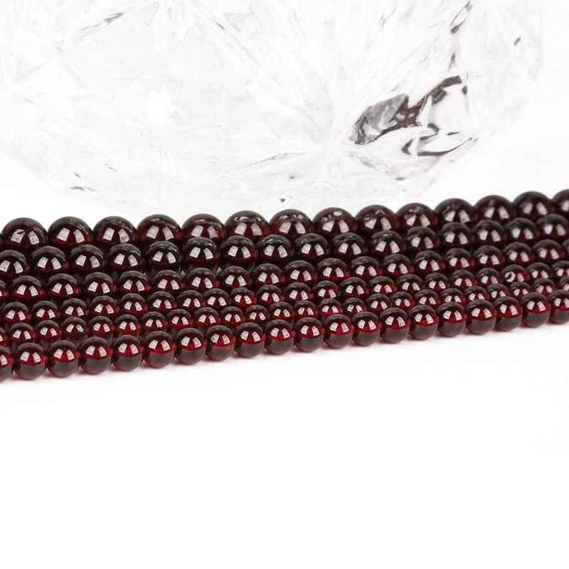 5 PC Khoét Lỗ 1.5 Mm Vòng Đá Garnet Không Gian Siêu Tốc Rời Hạt Đá Tự Nhiên Cho Trang Sức Làm DIY Bông Tai Handmade Accessoire Bán Buôn cung Cấp