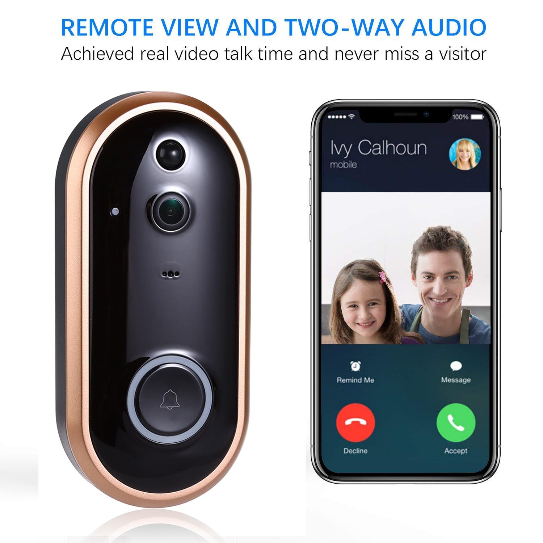 1080P Smart WIFI Doorbell Intercom Video Ring Door Bell With Camera IR Entry Door Alert Wireless Security Chime Door Cam Alarm