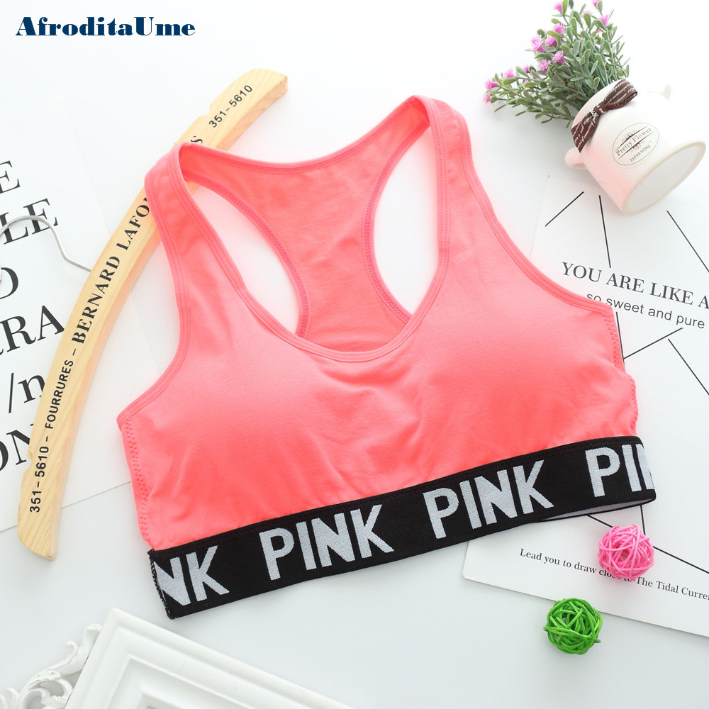 Women Casual Crop Top Cropped Padded Bra Tank Top Vest Fitness Workout Bras 5
