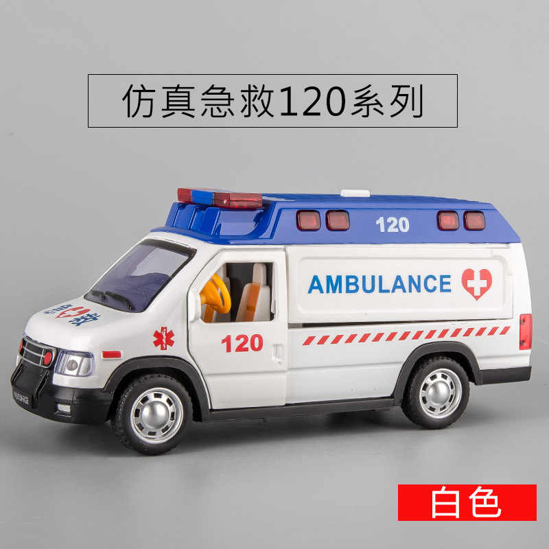 1:24 Family Fun alloy Sound &Light ambulance model car in china /Ambulance,Die cast emergency rescue vehicle toy for Kids