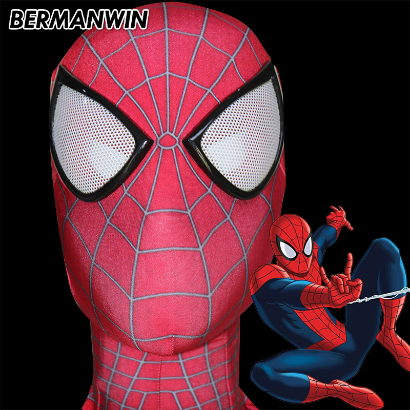 BERMANWIN High Quality Classic 3D Print Amazing Spiderman Mask Spiderman Face Mask Super Hero Mask spiderman cosplay