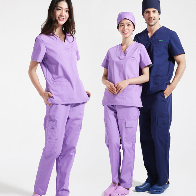 63477a93cc8 Plus Size Men's Medical Clothing Sets Nursing Uniforms for Women Core  Stretch Healthcare Professionals Workwear Scrub Sets