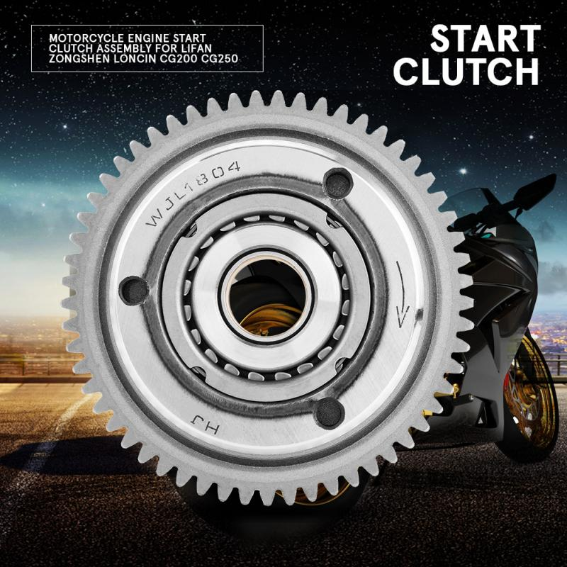 US $16 34 28% OFF|1PCs Motorcycle Engine Start Clutch Assembly for Lifan  Zongshen Loncin CG200 CG250 CG 200 250 New Arrive Motor Parts Hot Sale on