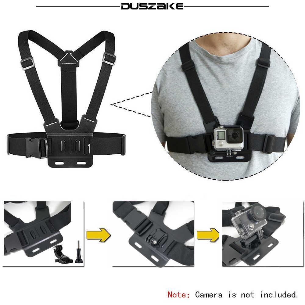 Duszake Accessories For Gopro Hero 5 Mini Monopod Chest Strap Belt Head Strap Mount For Gopro  Xiaomi Yi 4K SJ4000 Action Camera