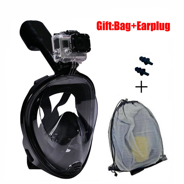 180° Full Face Snorkel Mask with Panoramic View Anti-Fog, Anti-Leak Snorkeling Design with Adjustable Head Straps See Larger Viewing Area