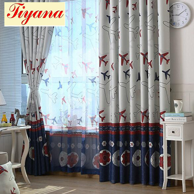 Plane Blackout Curtains Sheer Curtains Tulle for Living Room ...