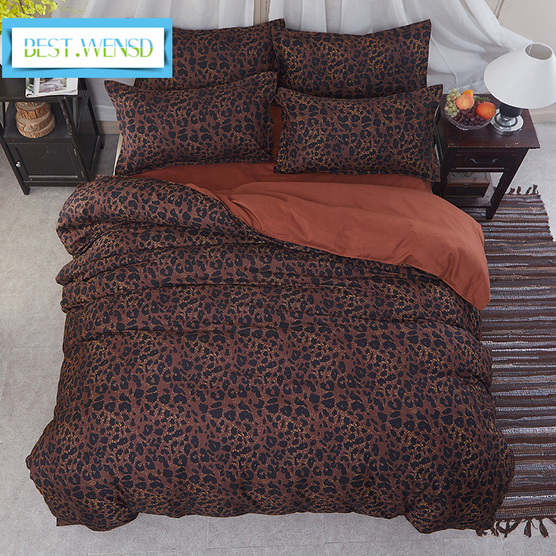 BEST.WENSD Luxury 100% Egyptian cotton bed cover set comforter bedclothes quality BedSheet Duvet Cover sets geometric Bed Linen