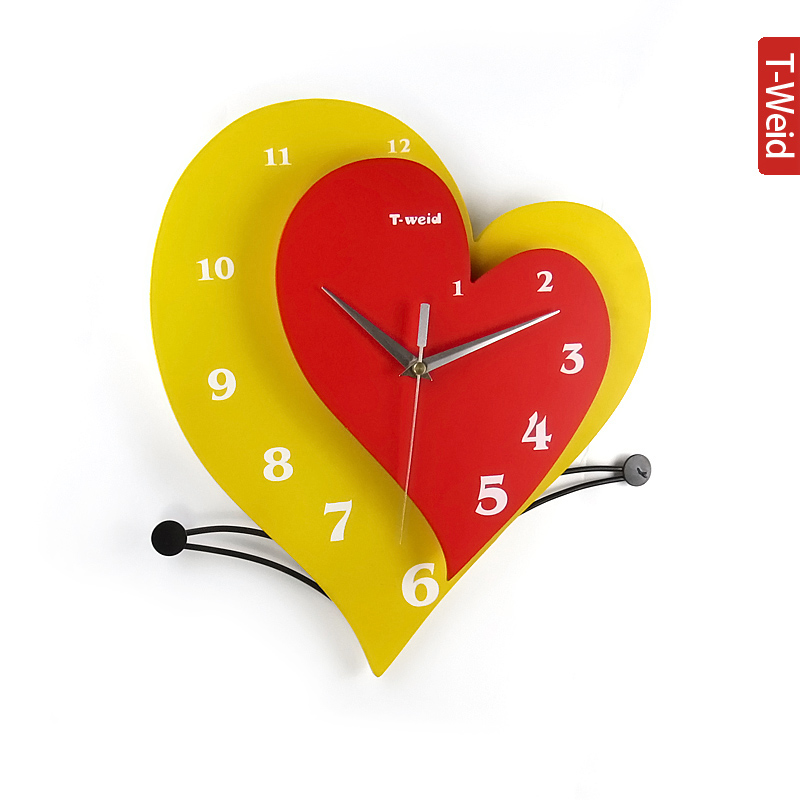 Деревянная арка гамак настенные часы немой личность моды и часы новый дом праздничные украшения деревянные настенные часы
