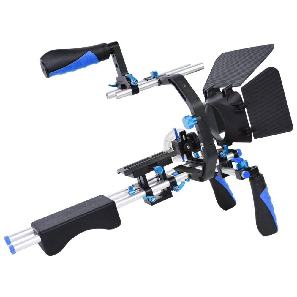Professional Camera Rig Shoulder Stabilizer Movie Film Support Kit  Follow Focus Matte Box for Canon Nikon Sony SLR DSLR Camera new professional dslr rig shoulder mount rig filming photography accessories for canon sony nikon slr video camera dv camcorder