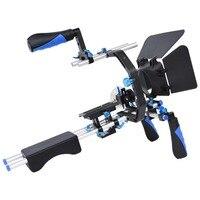 Professionnel Caméra Rig Stabilisateur D'épaule Film Film Soutien Kit Follow Focus Matte Box pour Canon Nikon Sony SLR DSLR Caméra