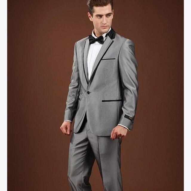 nuevo brillante caballero gris claro delgado hombres de negocios