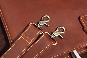 Image 3 - High Grade Vintage Crazy Horse Leather Document Bag Fashion Horizontal A4 Men Handbag Genuine Leather Thin Briefcase