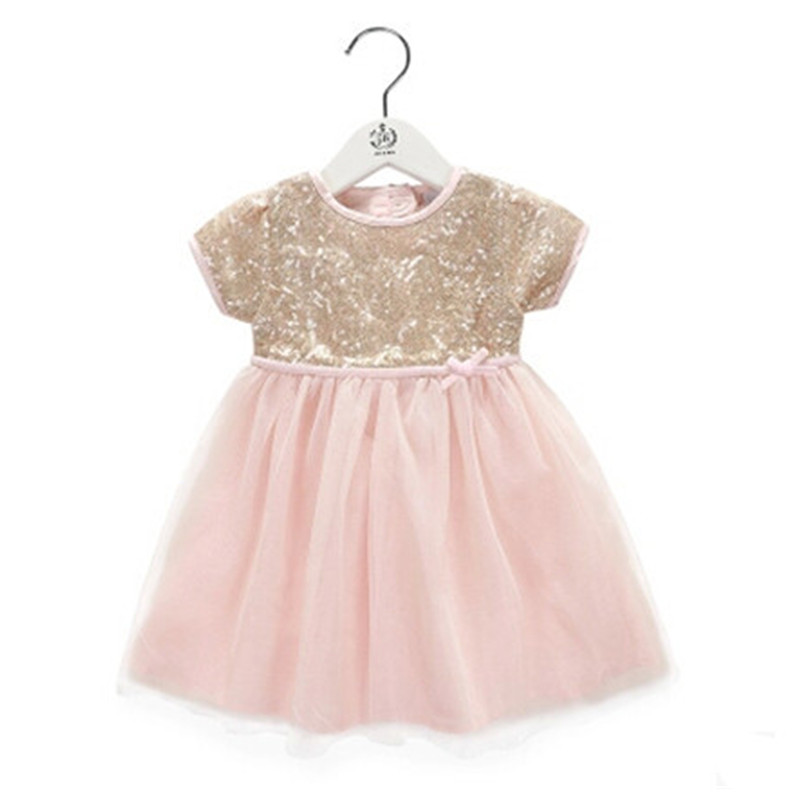ФОТО BBWOWLIN Baby Clothes Girls Dresses Baby Clothing Sequined for 0-6 Years Little Girls Dresses Birthday Party Wedding 70012