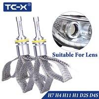 TC-X D2S H7 H11 Светодиодная лампа H1 H3 фар для автомобиля 12 v ice ПТФ D2S D4S диодные лампы с Luxeon ZES лампа-чип автомобили продуктов
