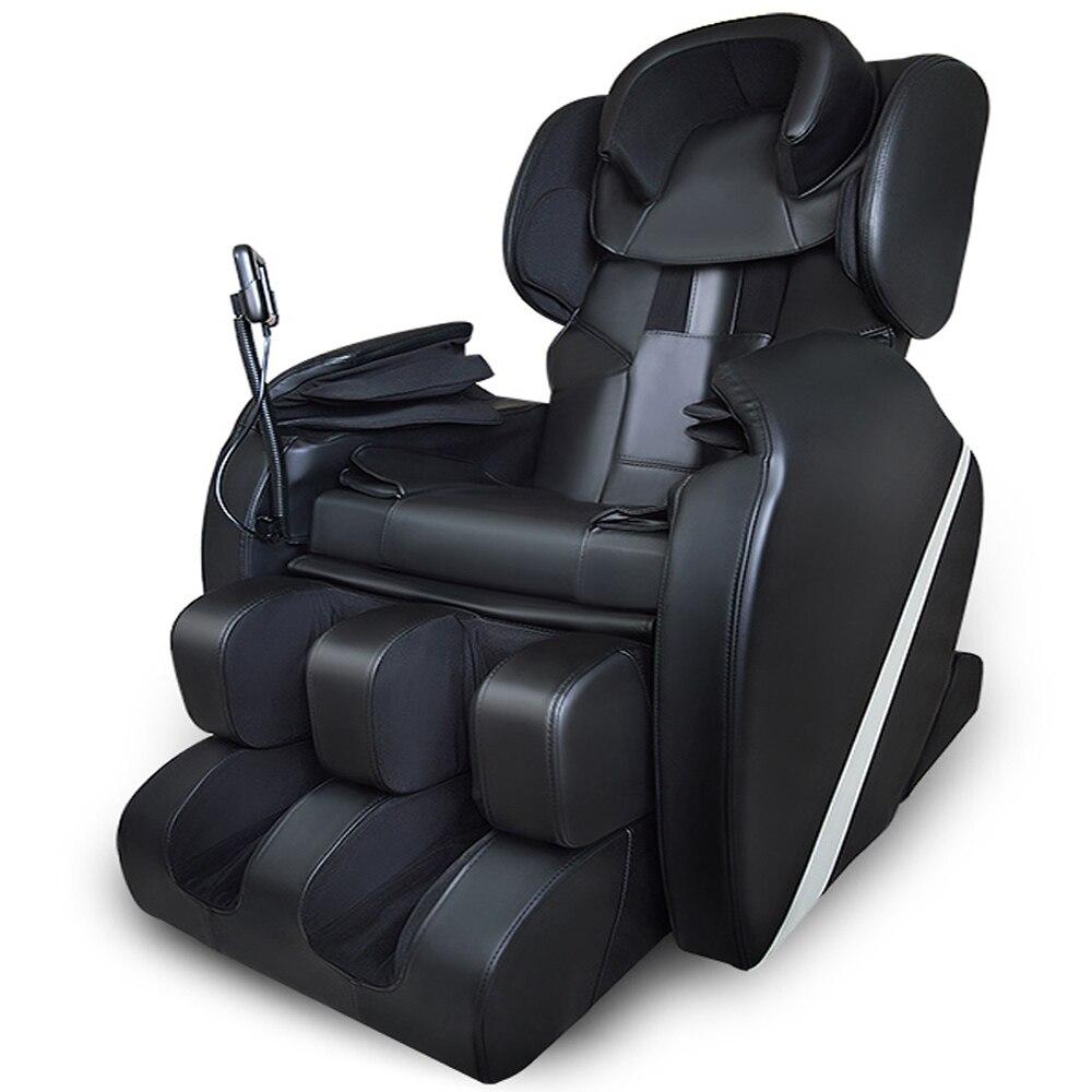 Completo Cuerpo gravedad cero shiatsu masaje eléctrica reclinable silla W/calor airbag estirada pie tejido profundo libre de impuestos