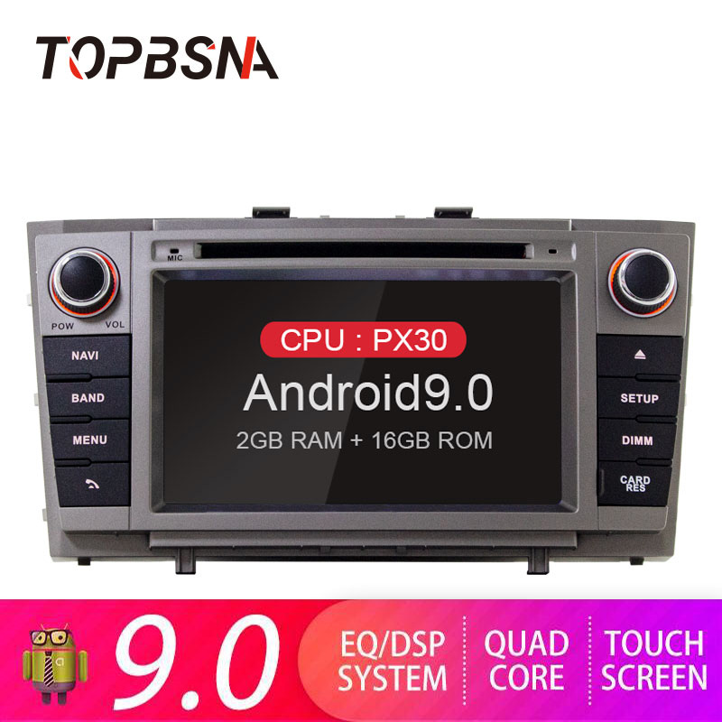 TOPBSNA Android 9.0 Car DVD Player Autoradio for <font><b>Toyota</b></font> <font><b>T27</b></font> Avensis 2008-2013 GPS Navigation 2 Din Car Radio Video Stereo RDS CD image