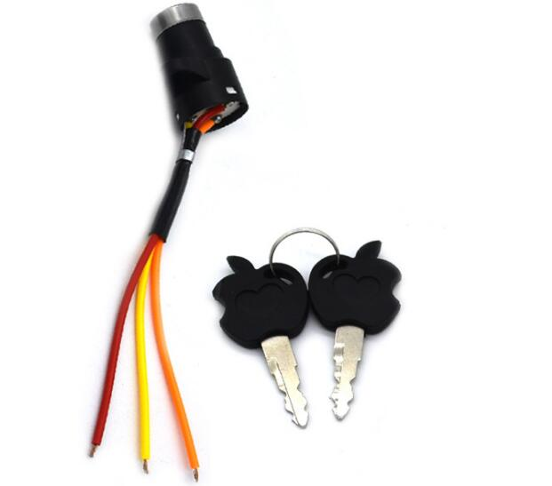 Electric Scooter Electric Bicycle Switch Key Switch Power Lock For Electric Bike EScooter