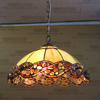 16inch Agate Jade Tiffany Suspended Luminaire E27 110 240V Chain Pendant Lights Lighting Lamps For Home