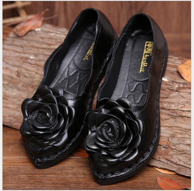 ФОТО national wind original Handmade women's shoes restoring ancient ways Genuine Leather shoes comfortable soft  mother shoes