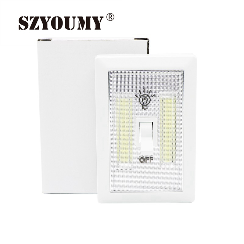 Led Bulbs & Tubes Szyoumy Led Cordless Lamp Mini Cob Switch Wall Night Lights Home Use Bedroom Wardrobe Garage Closet Light Emergency Repair An Enriches And Nutrient For The Liver And Kidney