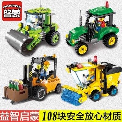 Blocs de construction, illumination l'assemblée génie voiture blocs, jouets garçon, enfants blocs de construction de puzzle