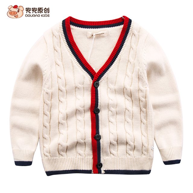Children's knitted cardigan baby cotton coat 2017 spring leisure jacket casual sweater boy
