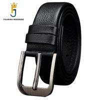 FAJARINA High Quality 1st Layer Genuine Leather Belt Men S Soft Black Cowhide Clasp Buckle Formal