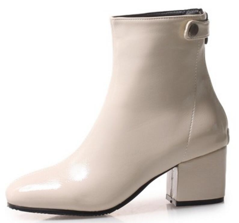 Chaussure Xz180541 Bombas Black beige Feminino Mujer red Chunky Charol Gladiador Zapatos Brillante Mujeres Botines Sapato Tacones Altos UpSFqw