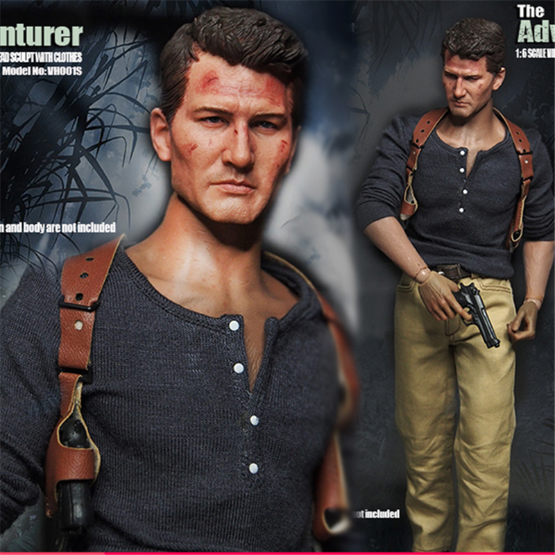 Mnotht VH001S 1/6 Scale The Adventurer Costume Set with Head Sculpt & Clothes for Hot Toys Ttm19 Figure Body L30 1 6 scale the game of death bruce lee head sculpt and kungfu clothes for 12 inches figures bodies