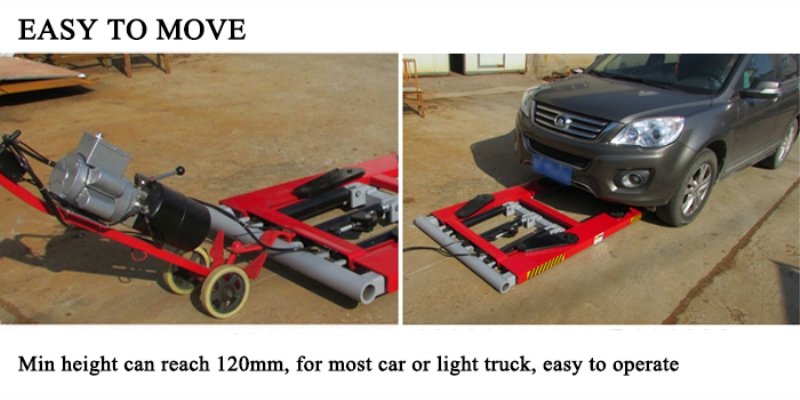 Небольшой автомобильный подъемник подвижного типа ножницы подъемная ремонтная платформа для автомобиля цена на продажу