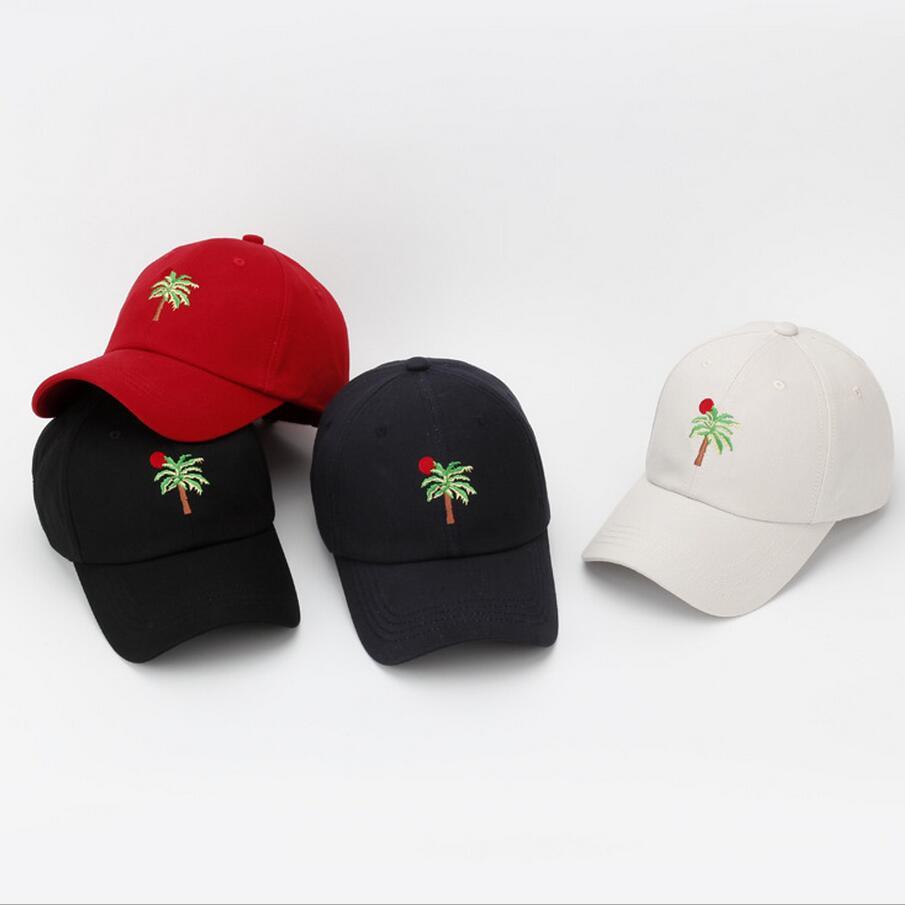 Prix pour Chapeau de mode Femmes Hommes D'été Printemps Coton Caps Femmes De Noix De Coco arbre Solide Adulte casquette de baseball Snapback Femmes Cap 2016