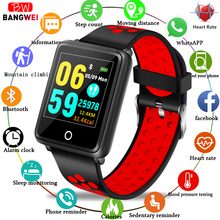 BANGWEI Women Fitness Watch Waterproof Sports Heart Rate Blood Pressure Monitor Tracker Pedometer Men Smart