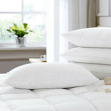 2016 New Design White Goose Down Pillow Neck Health Care 100% Fine Cotton Allow The Down/Feather To Breathe Free Shipping