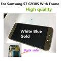 Grade AAA 5.1 polegada S7 Lcd completa assembléia Lcd do Quadro 1 PCS para samsung galaxy s7 g930s touch screen digitador quadro assembléia dhl
