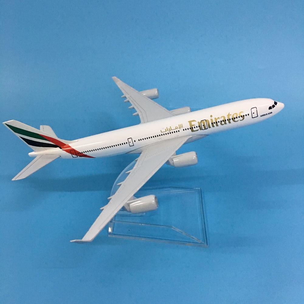JASON TUTU Aircraft Model Diecast Metal 1:400 16cm Plane Model Airplane Model Emirates Airbus A340 Airplanes Model Plane Toy Gif