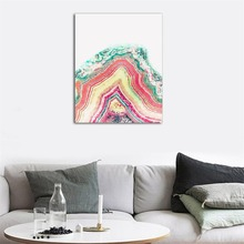 Laeacco Watercolor Decorative Canvas Paintings Wall Charts Picture Abstract Posters on the Nordic Home Decoration