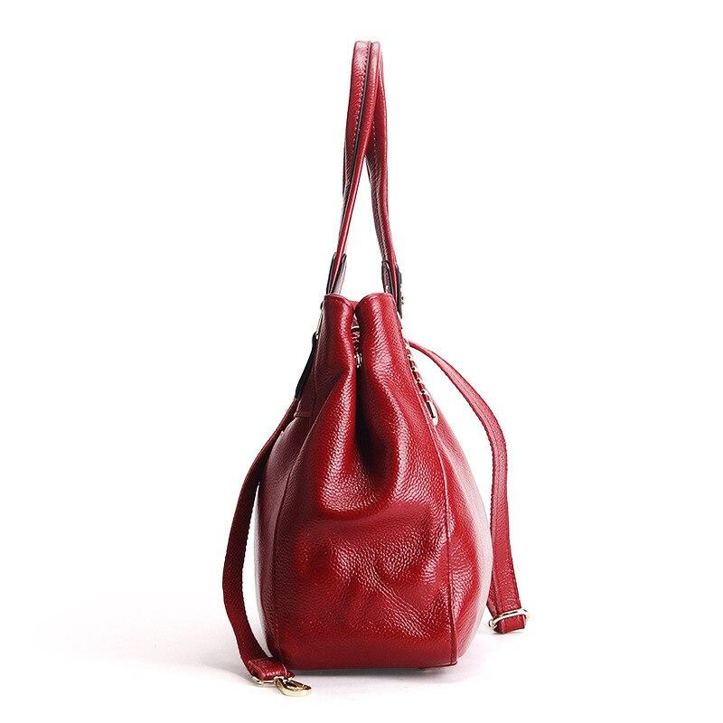 Main gray Cuir blue red En Luxe À Bandoulière Épaule Sacs Designer Black Pour Dames Vache Doux tout 2018 Femmes pink Fourre Véritable Sac De q4xwXRngt