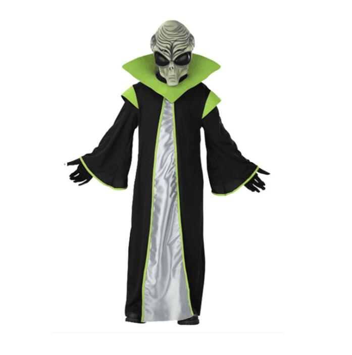 TPRPCO Child Deluxe All-powerful Leader Out Space Scary Alien Costume For Kids Robe