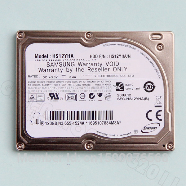 NEW HS12YHA 120GB 1.8