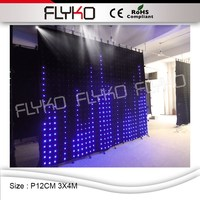 P12CM 3X4 M china sexy video tenda led wall display calda vide flessibile video tenda a led