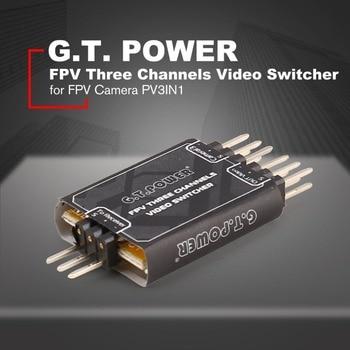 G.T.POWER 3 Channel Video Switcher Module 3 Way Video Switch Unit Over Module Unit for FPV Camera PV3IN1