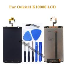 """5.5 """"חדש לגמרי מקורי עבור Oukitel K10000 LCD dispaly + מסך מגע digitizer עצרת פנל זכוכית מטריקס החלפת רכיב"""