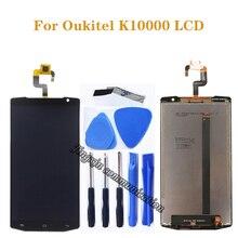 """5.5 """"gloednieuwe originele Voor Oukitel K10000 LCD dispaly + touch screen digitizer vergadering panel glas matrix component vervanging"""
