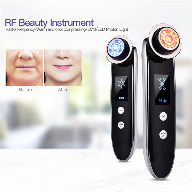 5 in 1 Facial RF Radio Frequency EMS LED Photon Massager Face Lifting Tighten Wrinkle Removal Skin Care Device Beauty Machine PJ5 in 1 Facial RF Radio Frequency EMS LED Photon Massager Face Lifting Tighten Wrinkle Removal Skin Care Device Beauty Machine PJ