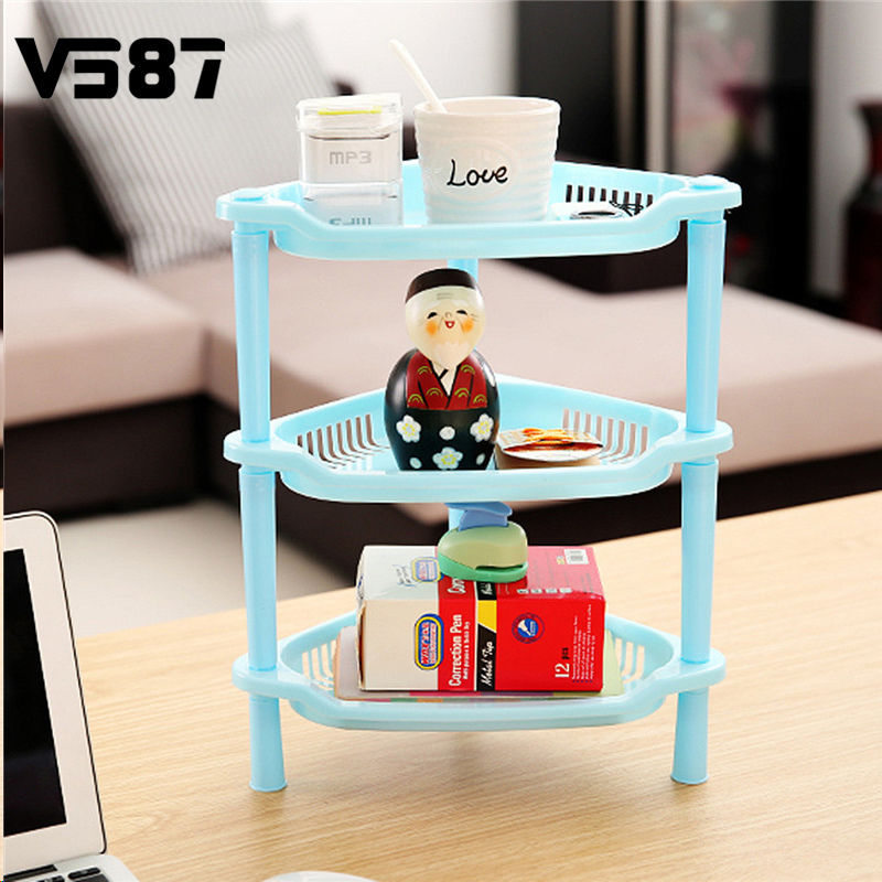 3 Tier Plastic Kitchen Storage Rack Corner Shelf Unit Organizer ...