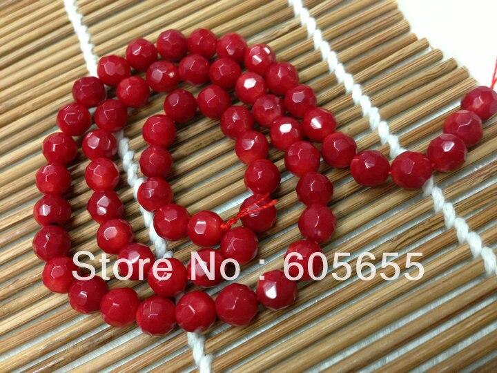 Морской бамбук 4 мм граненые круглые Коралловые бусы для изготовления модных ювелирных изделий 10 нитей в партии